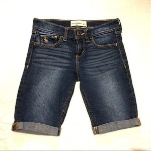 abercrombie denim bermuda shorts